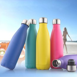 Wholesale Wholesale Sport Water Bottles - Water Bottle For Mug Leak-Proof Double Wall Vacuum Insulated Water Bottles Portable 301-400Ml Cup Sports Bottle