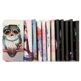 Wholesale Elephant Phone - Owl Dreamcatcher Wallet Leather Pouch Case For Samsung GALAXY S8 PLUS 2017 A3 A5 A320 A520 Huawei P10 Flower Elephant Stand Card Phone Cover