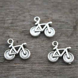 Wholesale Bike Charms - 30pcs--Bicycle Charms,Antique Tibetan Silver Lovely Bike Charm Pendant ,13x15mm