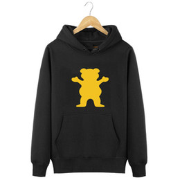 Wholesale Grizzly Long - Wholesale-Grizzly Grease hoodies Diamond Supply mens Grizzly bear Sweatshirt pullover sad boy hoodies size s-xxxl