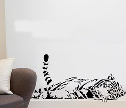Wholesale Kids Growth Chart For Wall - Animal wall stickers decoration cute tiger sofa glass cabnet stickers home decal decor a0208 100*40cm