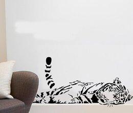 Animal adesivos de parede decoração bonito tigre sofá de vidro cabnet adesivos home decal decor a0208 100 * 40 cm de