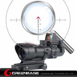 Wholesale Dark Earth Dot Scope - Greenbase ACOG Style Wide field of View GB 01NSN 4X32 Scope With RM Red Dot Black Dark Earth