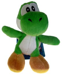 Wholesale Mario Keychain Toys - Wholesale-Super Mario Bros Yoshi 4in Plush Doll Toy Keychain Decoration Pendant Green