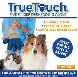 Wholesale Silicone Hair Piece - 2017 Dogs Cats Pet Hair Grooming Silicone Glove Black Brush Remover Color Box One Piece Free Shipping