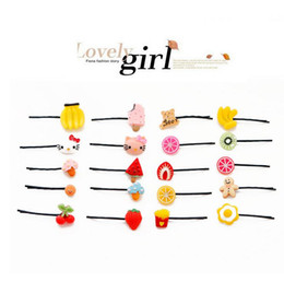 Wholesale African Christmas Decorations - Cute hair ornaments word clip Harajuku card children cherry hairpin fruit lemon Meng head decoration FJ067 mix order 60 pieces a lot