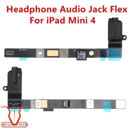 Wholesale Headphone Parts - For Apple iPad Mini 4 Earphone Headphone Jack Audio Flex Cable White Black Color Replacement Parts DHL Free Shipping