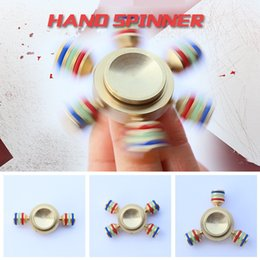 Wholesale Cool Metal Toys - Luxury Cool Spinning Top Change More Model Spinner Fidget Gyro Toys Brass Surface Hand Spinner Symphony Metal Spinning Tops Finger Gyro Toys