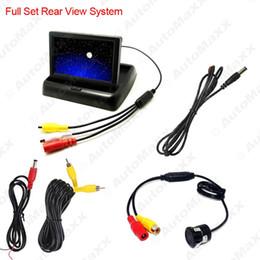 Wholesale Digital Car Parking Sensor System - FEELDO 4.3Inch Foldable TFT LCD Digital Monitor With 18.5mm Reversing Backup Camera Car Rear View System #3789