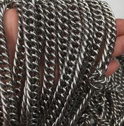 cadena de metros Rebajas 5 metros / Lote Venta directa de Fábrica de Joyas Hallazgos Pesados 8.8mm Curb Link Chain Acero inoxidable jewlery DIY SILVR