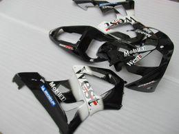 cbr929rr schwarze verkleidung kit Rabatt Verkleidungssatz Einspritzkarosserie für Honda CBR900RR 00 01 West Aufkleber schwarz Verkleidungssatz CBR929RR 2000 2001 OT35