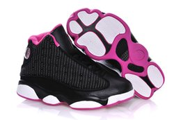 Wholesale Birthday For Boys - cheap Kids Air Retro 13 Shoes Children Basketball Shoes for Boys Girls Retro 13s Black Sports Shoe Toddlers Athletic Shoes Birthday Gift