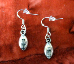 Wholesale Football Signings - 50Pair BUTTERFLY FOOTBALL TREE Maple Leaf HOPE DRAGONFLY BUNNY PEACE SIGN 925 Sterling Silver Drop Dangle Chandelier Earrings Woman Jewelry