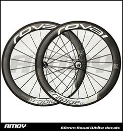 Wholesale Road Bike Race Wheels - 2016 new Roval 700c 25mm width 50mm rim 3k UD twill weave carbon road wheels racing clincher clincher wheelset