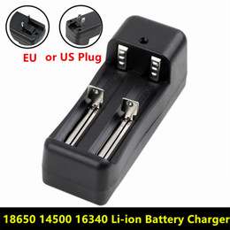 Wholesale Buy Wholesale Free Shipping - Universal Dual Battery Charger For 18650 14500 16340 26650 Rechargeable Li-ion battery charger EU   US buy 50pcs Send DHL free shipping