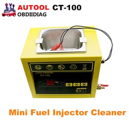 Wholesale Vw Fuel Injector - AUTOOL CT-100 MINI Fuel Injector Cleaner 110V 220V CT100 Car Motorcycle Auto Ultrasonic Injector Cleaning Tool