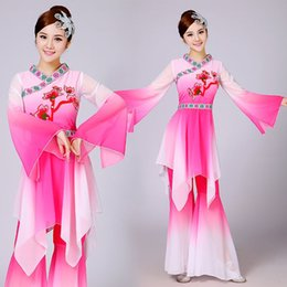 Wholesale Classical Clothing For Women - q0228 New Fan Dance Clothing Classical Clothes Yangko Dance Costumes National Umbrella clothes for adult Chinese Folk Dance
