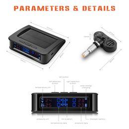 Wholesale Tpms Sensor Internal Tire Pressure - Solar Powered TPMS Car Tire Pressure Monitor System 4 External or Internal Sensors