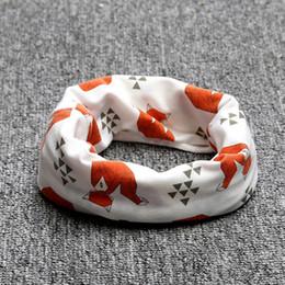 Wholesale Print Tiger Children - Wholesale- Cartoon Cotton Wraps Baby Scarf Tiger Panda Tent Print Kid Scarves Winter Children Collars Boys Girls Animal O Ring Neckerchief