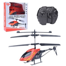 Wholesale Model Helicopters Radio Controlled - Wholesale Mini RC Helicopter 3.7V Radio Remote Control Aircraft 3D 2.5 Channel Drones Copter With Gyro and Lights