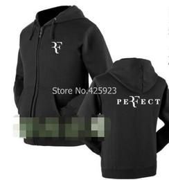 Wholesale Up Size Clothing - Wholesale- Roger Federer zipper sweatshirt Size S~XXXL autumn and winter clothing for men women jacket