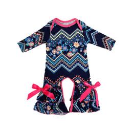 2019 monos para dormir Ropa de otoño para niños Vintage Baby Rompers Blue Pink Fashion Baby Clothes Ruffle Winter recién nacido mono del sueño con lazo rebajas monos para dormir