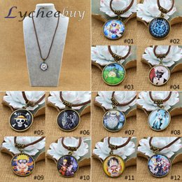 Wholesale One Piece Pendant - Wholesale-Hot Anime Cartoon One Piece Black Butler Tokyo ghouls Style Collection Cosplay Necklace
