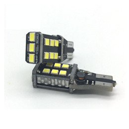 Wholesale W16w Led Canbus - w16w no error led bulb T15 921 car reverse light backup parking lamp no error auto canbus 15 SMD 2835 12V 750lm xenon white