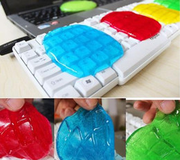 Wholesale Computer Gel Cleaner - Magic Cleaning Gel Putty Car Keyboard Console Laptop Computer Super Cleaner Dust