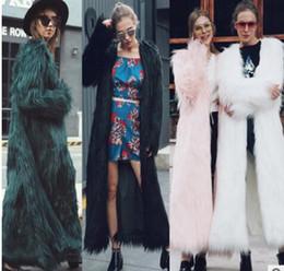 Wholesale Women Beige Coat Cashmere - 2017 Winter new Women Imitation Mink Fur Coats Fashion Slim thick warm Faux Fur Outerwear Plus Size 5XL female long Coats