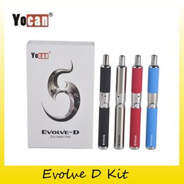 Wholesale Ego Herb Kit - Authentic Yocan Evolve-D Starter Kit dry herb pen Vaporizer with Pancake Dual Coils 650mAh Battery ego thread atomizer 100% genuine 2204022