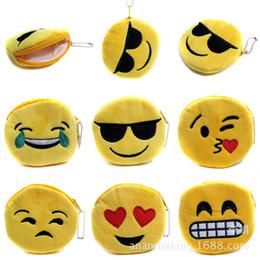 2019 monedero lindo barato ENVÍO GRATIS 100 unids / lote 2016 Nuevo Monedero de Emoji Barato Lindo Mini Llaveros Llaveros de Algodón Llaveros para Niñas monedero lindo barato baratos