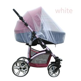 Wholesale Midges Net - Wholesale-Trendy Infants Baby Stroller Mosquito Net Buggy Pram Protector Pushchair Fly Midge Insect Bug Cover Baby Bedding Crib Netting