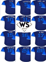Wholesale Kershaw Jersey - 2017 Little League WS Patch Players Weekend Men Lady Kid Los Angeles Clayton Kershaw kersh Corey Seager Chris Taylor CT3 Baseball Jerseys