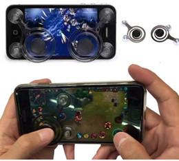 Wholesale Funny Pc Games - Creative Game Joystick Mobile Phone Game Rocker Touch Screen Joypad Tablet Funny Game Controller 2 Pcs 1set KKA1709