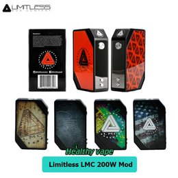 Wholesale Electronic Cigarette Plate - New Ijoy Limitless LMC 200W TC Box Mod With Interchangeable Plates Electronic Cigarette VS Limitless Arms Race   ijoy Captain PD270