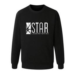 Wholesale Brown Friends - Wholesale- Flash Barry Allen Star Lab Labs Black Color Mens Sweatshirt Men Novelty hoodies Pullover 2016 Male Clothes Arrow Friend