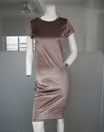 Wholesale Hot Tight Dress Girl - Hot Selling Wholesale New Style cakes Fall girl is tight round collar short sleeve knee pencil dress