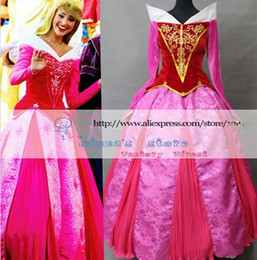Wholesale Aurora Adult Costume - New Arrival Sleeping Beauty Princess Aurora Cosplay Costume for Adults can be Custom-Made