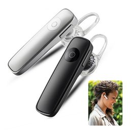 Wholesale Headphone Case Mic - M165 Wireless Bluetooth Earphone Portable Headphones Bluetooth Headset Hands-free Earbud with mic case in Car for Phone