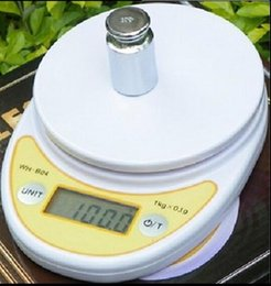 Wholesale Digital Scale Balance Bowl - 5kg 1g Kitchen Scale 5 kg Without Bowl WH-B04 Precision Scale Balance Bagage Electronic Gram Scale Free Shipping Factory Direct Sale