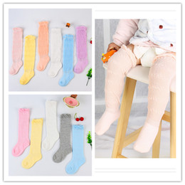 Wholesale Wholesalers For Baby Mosquito - Baby summer cotton stocking knee-socks loose mesh socks anti-mosquito air-conditioning stockings 6colors for infants 0-3T