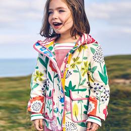 Wholesale Toddlers Outerwear For Winter - Spring Kids Coat Jacket Hoodie Cartoon Graffiti Printed Hooded Windbreaker For Girls Full Sleeve Toddler Outerwear