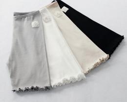 Wholesale High Waist Safety Pant - 2017 new fine thread lotus leaf leggings high elastic cotton three minutes safety pants summer leggings