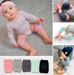 Wholesale Elbow Knee Pads Baby - Baby Knee Protector Baby Knee Pads Crawling Protector Kids Kneecaps Solid Anti-slip Baby Leg Warmers Safety Crawling Elbow Cushion KKA2148
