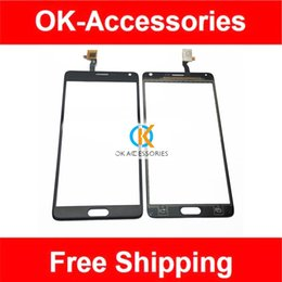 Wholesale Touch Screen Iphone China - Wholesale- 5.7 Inch For China Note 4 SmartPhone Note 4 Clone 6011-v1.0 Touch Screen Digitizer White Color 1PC  Lot Free Shipping