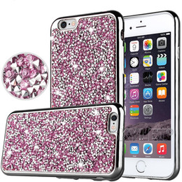 Wholesale Bling Diamond Glitter Case Iphone - For iPhone 7 Galaxy ON5 jewelry Case Diamond TPU Case For Iphone 6 Cases S7 Crystal Luxury Glitter Bling Flash Power Soft Case Opp Bag