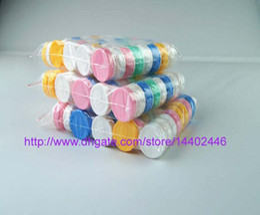 Wholesale Colorful Contact Cases - 1000 pcs(500pairs) Contact Lens Case lovely Colorful Dual Box Double Case Lens Soaking Case 0001