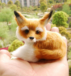 Wholesale Fox Stuffed Animal - Little Fox Sitting Fengshui Learning Resources Miniature Plush Stuffed Animal Toy