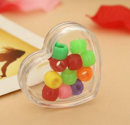 Wholesale Cute Boxes For Jewelry - 4.2*1.2*3.7CM Heart MIni Small heart Cute Gift Box Plastic Transparent Boxes For Jewelry Storage Lovely Girls Gifts Containers NWW10